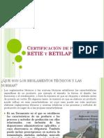 Certificación de producto RETIE y RETILAP