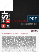 SHFL 2013 Analyst Day Presentation