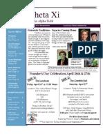 aa theta xi spring 2013 newsletter