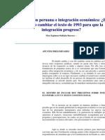 Constitución peruana e integración económica