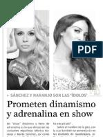 Mónica Naranjo - Periódico Impacto 20.06.2013