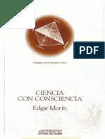 Ciencia Con Consciencia Edgar Morin