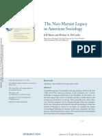 El Impacto Del Marxismo en La Sociologia Norteamericana