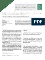 La deshidratación de la proteína cruda de Ginkgo biloba L. por congelación secado por microondas