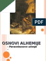 OSNOVI ALHEMIJE - Paracelzusovo ucenje
