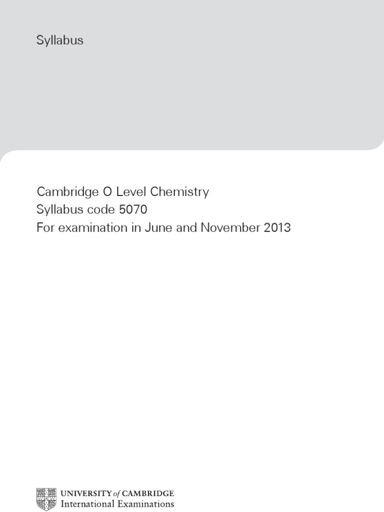 Chemistry gce olevel syllabus chemical reactions metals urtaz Gallery