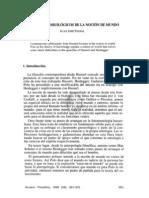 36. ASPECTOS GNOSEOLÓGICOS DE LA NOCIÓN DE MUNDO, JUAN JOSÉ PADIAL