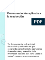 Documentacion Aplicada a La Traduccion - 30 Abril