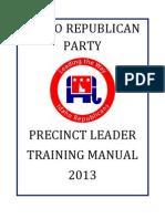 2013 idaho precinct leader training manual