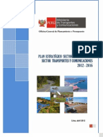 Plan Estrategico Transportes y Comunicaciones 2012-2016