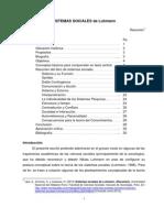 Sistemas Sociales (Luhmann) Resumen