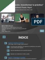 Vivir La Educacic3b3n Transformar La Prc3a1ctica Presentacic3b3n