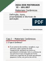 Cap.I - Materiais Cerâmicos V2