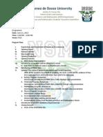 NSM Cluster Orientation Day program