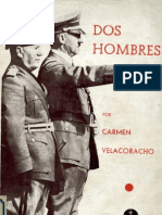 Dos Hombres Mussolini Hitler