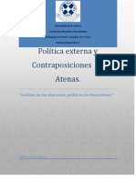 Politica Externa y Contraposiciones en Atenas