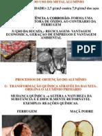 AULA PROCESSO DE PRODUÇÃO DO ALUMÍNIO 25 05 2013