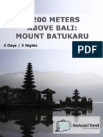 2,200 Meters Above Bali Mount Batukaru -4 Days 3 Nights-Inat01