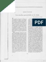 Ambrosio Rabanales Los Estudios Gramaticales en La India