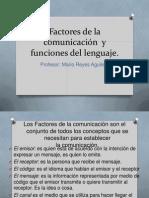 Factores de la comunicación  y funciones del lenguaje ppt