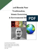 Traditionalism, Islamic Esotericism& Environmental Ethics