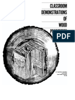classroom demonstration of wood properties