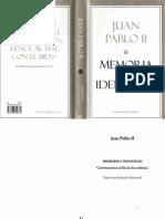 Juan Pablo II - Memoria e Identidad