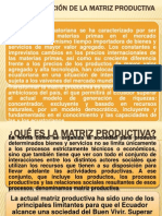 TRANSFORMACIÓN DE LA MATRIZ PRODUCTIVA