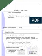 Ejemplo de Clase Metodos y Objetos Receptores