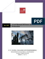 A Lab Manual of Power System Protectionfinal