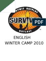 Survivor Winter Camp Lesson Plans