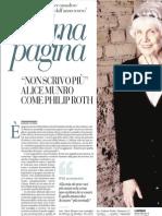 Ultima Pagina, Alice Munro Come Philip Roth - La Rapubblica 21.06.2013