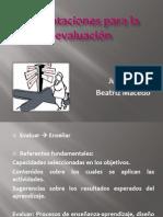 Orientaciones para la evaluación 13.jun