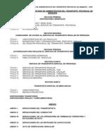 Reglamento Transporte Provincial Arequipa