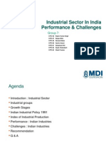 Industrial Sector in India Performance & Challenges