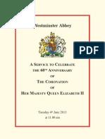 60th Coronation Service