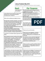 Frankston Library customer feedback May 2013.pdf