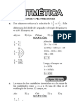 Aritmetica 2013 I- Razones y Proporciones