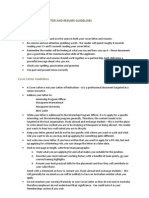 Sample Cover Letter and Resume 2012