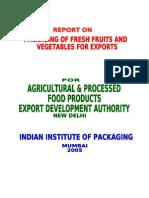 Packaging of Fresh Fruit & Veg for Export
