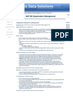 SAP HR - Organisation Management