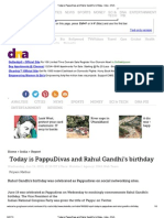 DNA - (Deleted Article) Today is PappuDivas and Rahul Gandhi's Birthday