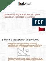 Biosintesis y degradación de glicógeno