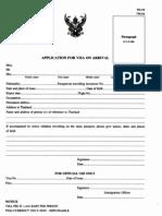 Form TM.88 Visa on Arrival Application Form
