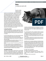 Pesticides and Pets