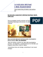 Evidence Indicates Michael Hastings Was Assassinated