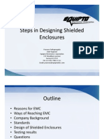 Stepes in Designing Shielded Enclosures