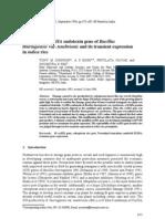 Clontng of a CryIIIA Endotoxin Gen Bt