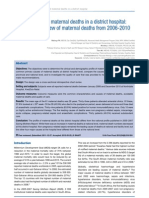 The profile of Maternal Deaths in a District Hospital of South Africa