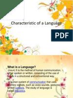 Characteristic of a Language